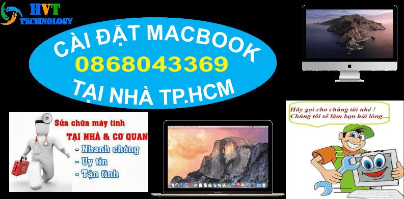 cài đặt macbook tại nhà hcm