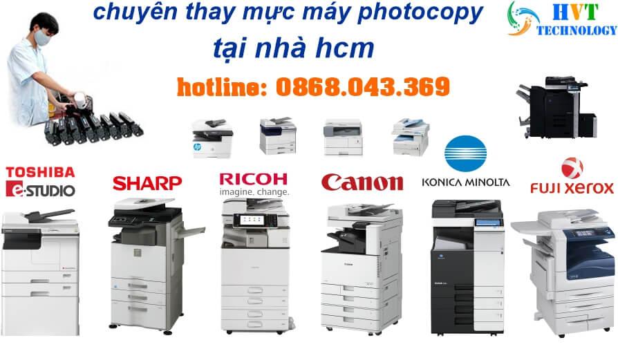 thay mực máy photocopy tại nhà hcm